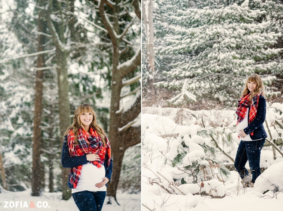 nantucket maternity photography snow winter