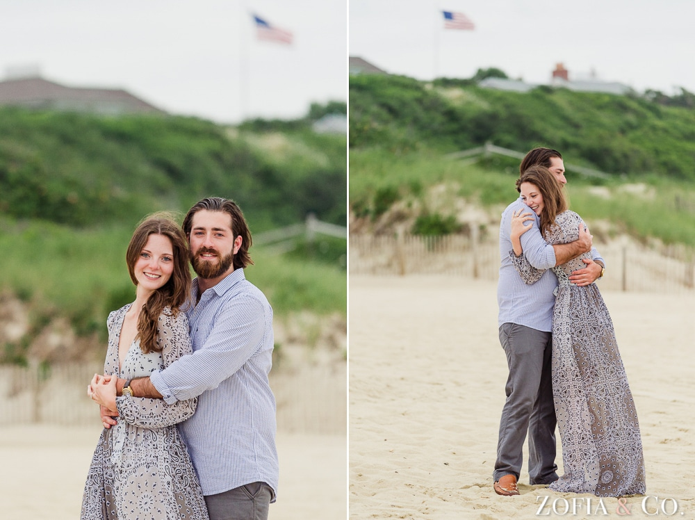 Nantucket marriage proposal at Galley Beach by Zofia and Co.