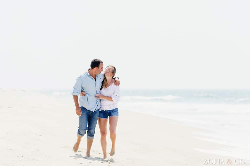 Nantucket beach engagement session by Zofia and Co.