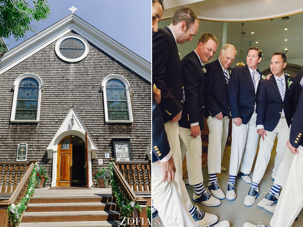 St Marys Church and Great Harbor Yacht Club Nantucket wedding by Zofia and Co. Photography 08