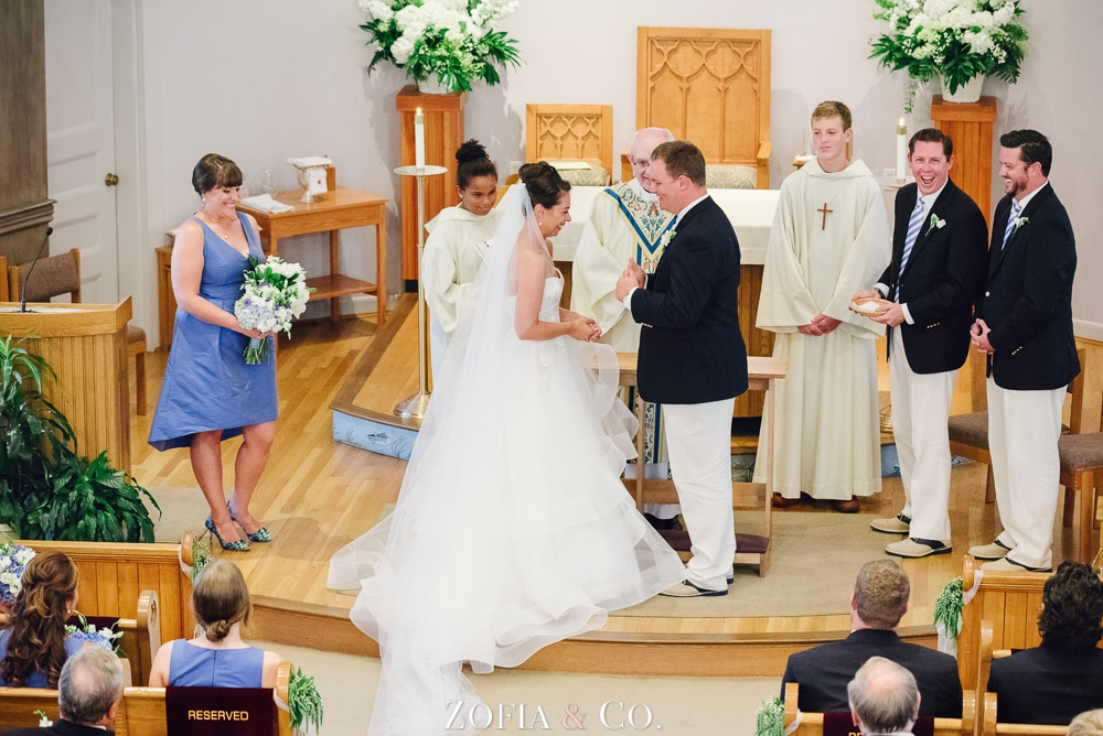 St Marys Church and Great Harbor Yacht Club Nantucket wedding by Zofia and Co. Photography 12