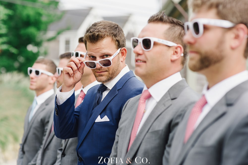 Navy and Coral Nantucket wedding photography at White Elephant by Zofia and Co.