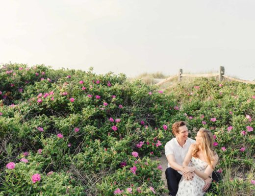 Nantucket engagement session at Steps Beach by Zofia and Co.