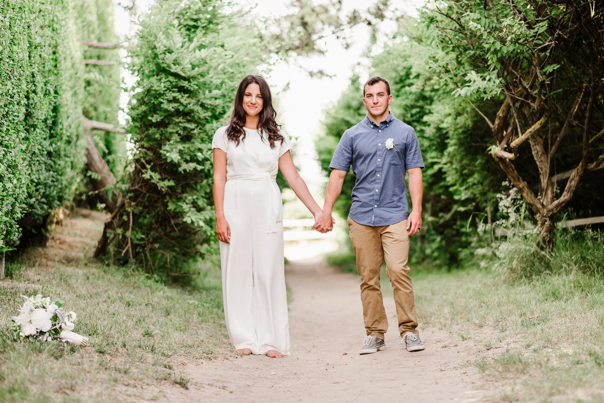 Nantucket Covid beach wedding elopement by Zofia and Co.